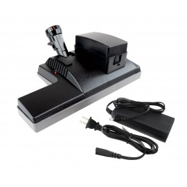 "Power Nozzle - 12"" (30.5 cm) Width - Black - V-Shaped Belt - Wireless with Charger - Wood Roller Brush - Perfect PN1BBK"