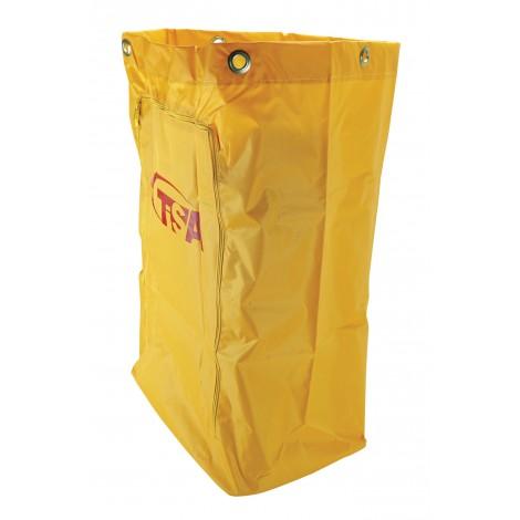 "Yellow Vinyl Bag with Zipper - Fits On Johnny Vac Janitorial Cart CART10B - 43 cm x 25 cm x 68 cm (17"" x 10"" x 27"")"