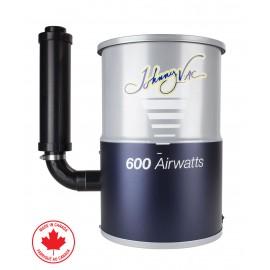 Aspirateur central Compact Johnny Vac # JV600C Pour condominium ou petite maison USAGÉ