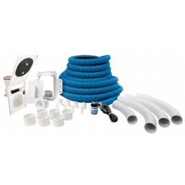 Hide-A-Hose installation kit for central vacuum with 50' Rapid Flex hose