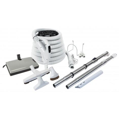 Central Vacuum Kit - 30' Hose - Pump Gaz Handle - 24 V 110 V - ValueFlex
