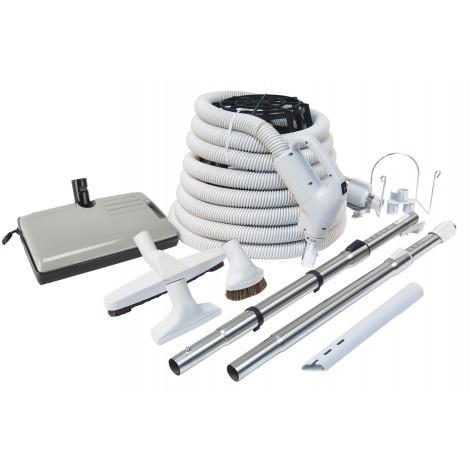 Central Vacuum Kit - 35' Hose - 24 V 110 V - Plastiflex
