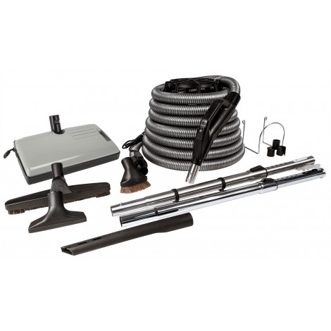 Central Vacuum Kit - Sweep 'N Groom - 35' Hose - Power Nozzle - Z999