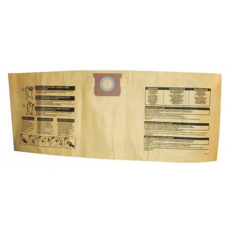 Sac microfiltre pour aspirateur Shop Vac type I avec capacité du réservoir de 37,8 L à 53 L (10 à 14 gallons) - paquet de 3 sacs - 9067200
