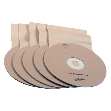 Sac en papier rond pour aspirateur Ghibli T1 et Wirbel W1 - paquet de 5 sacs