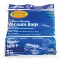 Microfilter Bag for Bosch Type P Vacuum - Pack of 5 Bags - Envirocare 207