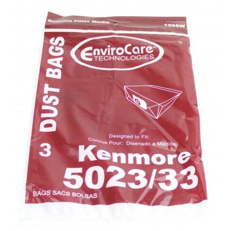 Sac en papier pour aspirateur Kenmore 5023/5033 - paquet de 3 sacs - Envirocare 129SW