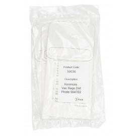 3 sacs en papier pour aspirateur Kenmore Dirt Pirate 564702 - No. de pièce 62350