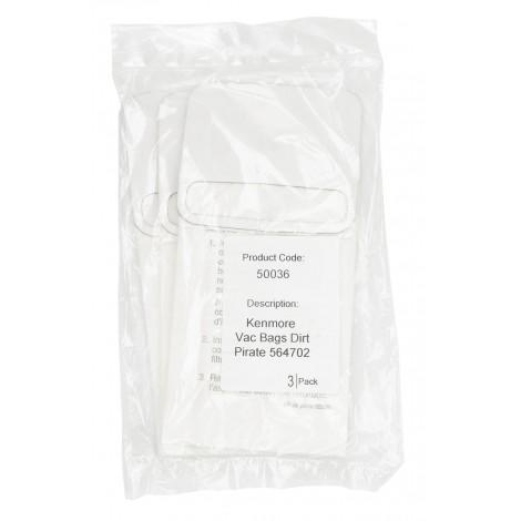 3-Pack Paper Vacuum Bags for Kenmore Dirt Pirate 564702 - Part nb. 62350