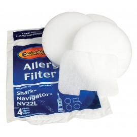 Filtre mousse pour aspirateur Shark Navigator NV22L - paquet de 4 filtres - F249