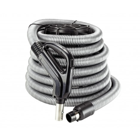 Central Vacuum Electric Hose 110v 35 'with Gas Pump Type Handle with Switch