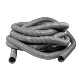 "Hose for Central Vacuum - 50' (15 m) - 2"" (50 mm) dia - Grey - Metal Reinforced - Vacuflex 0354-0200-0001-20"