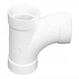 Coude 90° de forme T- pour tuyauterie d'installation d'aspirateur central, Hayden 765501W