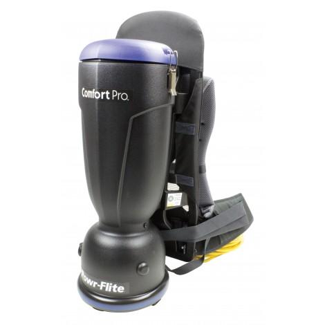 Standard BackPack Vacuum - Power Flite BP600S - 6 pints (3.4 L) Capacity - Ergonomial Harness - HEPA Filter - Complete Set of Accessories - BP6S