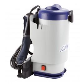 """Aspirateur dorsal profesionnel - capacité du réservoir 6 L (1,5 gal) - avec accessoires - filtration HEPA - câble d'alimentation de 9 m (30"""") - bretelles coussinées et ceinturon - Ghibli Wirbel 15883851951"""
