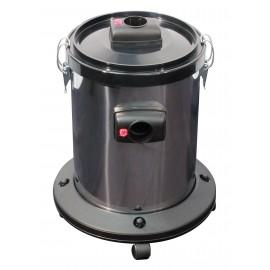 Récuperateur d'eau avec cuve en chrome et roues pivotantes