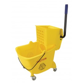 Ensemble seau et tordeur à pression latérale - 26 L ( 6 gal) - jaune