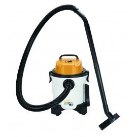 Portable Wet & Dry Shop Vacuum from RhinoVac, 20 L (4.5 gal), Swivel Casters/Wheels, Accessories and Blower - Used