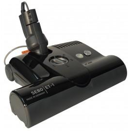 """Balai électrique - largeur de 30,5 cm (12"""") - hauteur ajustable - noir - courroie dentelée - rouleau-brosse en plastique - Sebo ET-1F2 BLACK"""