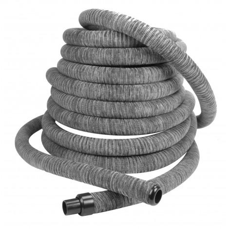 Hose for Central Vacuum - 40' (12 m) - with Grey Hose Cover - Rapid Flex - Hide-A-Hose hs500104p