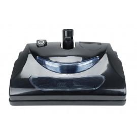"""Balai électrique - largeur de 30,5 cm (12"""") - noir - courroie dentelée - lumière frontale - rouleau-brosse en métal - bande de poils remplaçable - Johnny Vac PN11BK"""