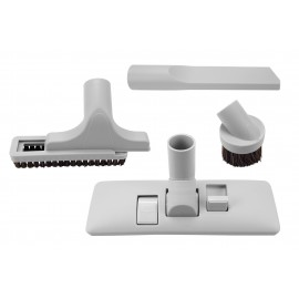 "Brush Kit - 12"" (30,5 cm) Combined Floor and Carpet Brush - Dusting Brush - Upholstery Brush - Crevice Tool - 1 ¼ "" (31.75 mm) dia - Fits All - Grey"