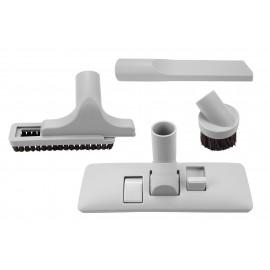 """Ensemble de brosses - brosse combinée planchers et tapis 30,5 cm (12"""") - brosse à épousseter - brosse pour meubles - outils de coins - 31,75 mm (1 ¼ """") dia - universel - gris"""