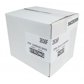 "Commercial Garbage / Trash Bags - Strong - 26"" x 36"" (66 cm x 91.6 cm) - Black - Box of 250"