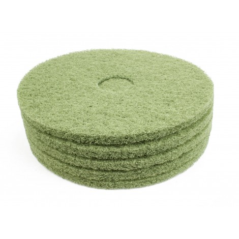 "Floor Machine Pads - For Scrubbing - 18"" (45,7 cm) - Green - Box of 5"