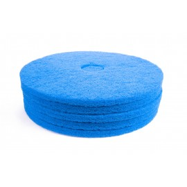 "Floor Machine Pads - For Super Scrub - 19"" (45.7 cm) - Blue - Box of 5 - 66261054246"