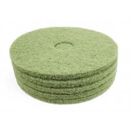 """Tampons pour polisseuse à plancher - pour récurer - 19"""" (45,7 cm) - vert - boîte de 5"""
