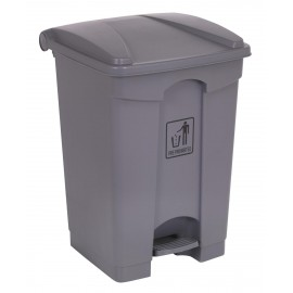 Trash Garbage Can Bin with Lid and Pedal - 17 gal (68 L) - BIN68ST - Grey