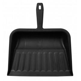 "Plastic Dust Pan - 10"" (25.4 cm) - Hang Hole - Black"