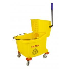 Ensemble seau et tordeur à pression latérale - 8,5 gal (32 L) - jaune