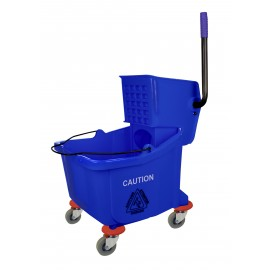 Sidepress Wringer and Bucket Combo - 9.4 gal (36 L) - Blue