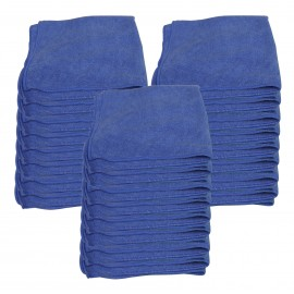 "Microfiber General Purpose Cloth - 16"" X 16"" (40,6 cm X 40,6 cm) - Blue - Box of 25"