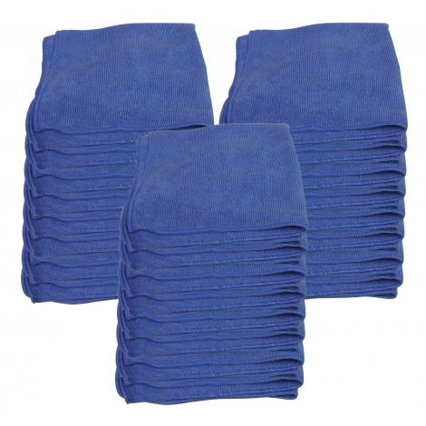 """Microfiber General Purpose Cloth - JS1616BU25 - 16"""" X 16"""" (40,6 cm X 40,6 cm) - Blue"""