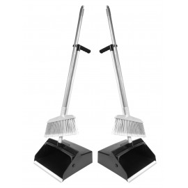Long Handle Dustpan with Mini Broom - Pack of 2