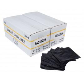 """Sacs à poubelle / ordures commercial - régulier - 20"""" x 22"""" (50,8 cm x 55,8 cm) - noir - 2 boîtes de 500"""