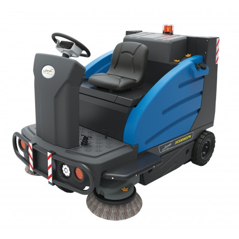"""Industrial Ride-On Sweeper Machine JVC59SWEEPN from Johnny Vac - 59"""" (1498 mm) Cleaning Path - Battery & Charger Included"""