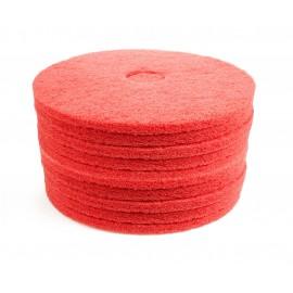 """Tampons pour machine à plancher - pour lustrer et vaporiser/polir - 17"""" (43,2 cm) - rouge - 2 boîtes de 5 - 6261054276"""