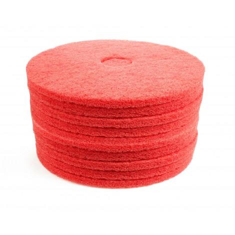 """Tampons pour machine à plancher - pour luster - 17"""" (43,2 cm) - rouges - 2 boîtes de 5"""