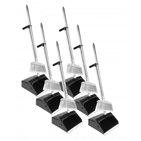 Long Handle Dustpan with Mini Broom - Pack of 6