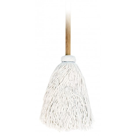Washing Round Mop with Wooden Handle - 1 oz (28,3 g)