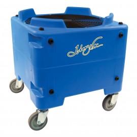 """Ventilateur / souffleur / séchoir de plancher industriel - Johnny Vac - diamètre du ventilateur 16,5"""" (41,9 cm) - 2 vitesses - avec roues - bleu"""