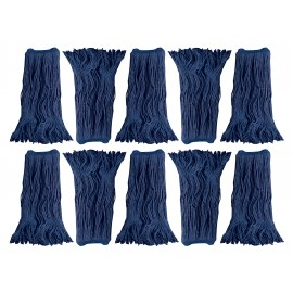 String Mop Replacement Head - Washing Mops - 20 oz (567 g) - Blue - Box of 10 - Select FBES20