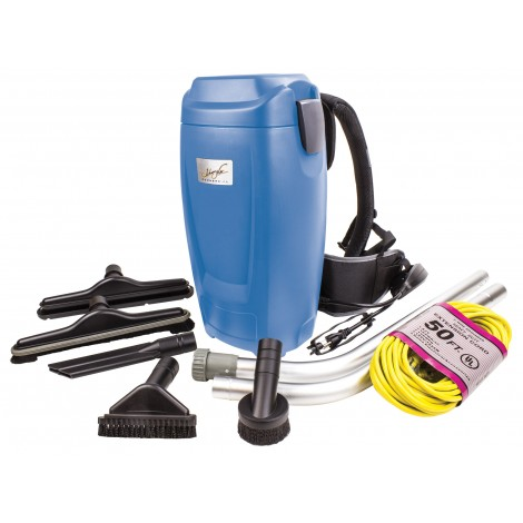 Backpack Vacuum - Johnny Vac - Capacity of 0.75 gal (3.4 L) - with Accessories and Superior Harness