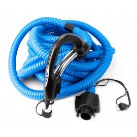 Boyau d'aspirateur central rétractable - 55' (16,7 m) - bleu - Démo
