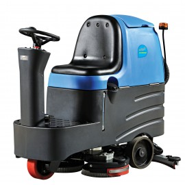 "Rider Scrubber JVC70RIDERN from Johnny Vac - 28"" (711 mm) Cleaning Path - 3.5 h Average Runtime - Battery & Charger included"