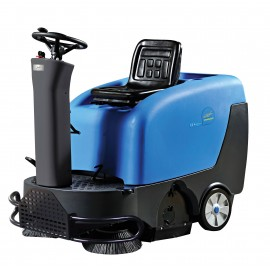 "Industrial Ride On Sweeper Machine - JVC40SWEEPN from Johnny Vac - 39.5"" (1 003 mm) Cleaning Path - Battery & Charger Included"